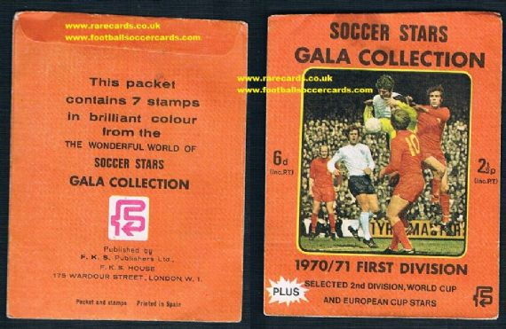 1970 fks Soccer Stars packet sealed